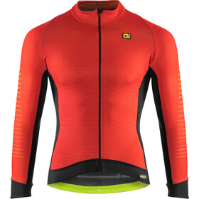 Alé Cycling Graphics PRR Thermo Road Maillot À Manches Longues Homme, red-fluo yellow